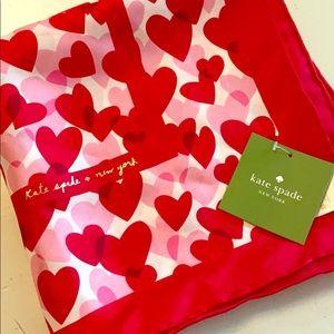 Large square valentine scarf